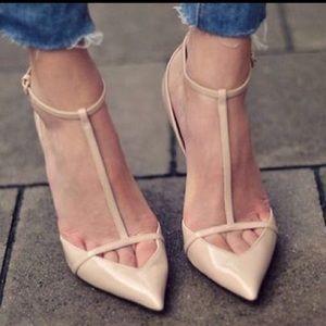 NWT ZARA T-Strap Heels